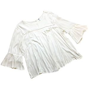 Old Navy Peasant Blouse, Size XL, Creamy White
